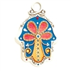 Blue Tree of Life Hamsa Hand by Ester Shahaf