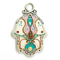 Colorful Hamsa Hand by Ester Shahaf