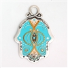 Light Blue Hamsa Hand by Ester Shahaf