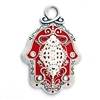 Red & Silver Hamsa Hand by Ester Shahaf