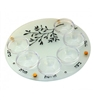 Hand Painted Passover Seder Plate by Ester Shahaf