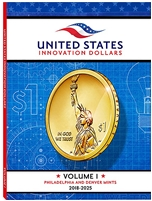 2018 - 2025 American Innovation Dollars Full Color Folder - Holds 22 Coins