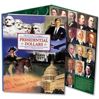 2007-2017 P and D Presidential Dollar - Full Color Littleton Coin Folder - Holds 88 Coins
