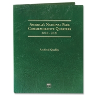 2010 - 2021 National Park Littleton Coin Folder - Holds 56 Coins