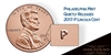 2017 - P Lincoln Shield Cent 50 Roll Bank Box - SPECIAL MINT MARK ISSUE!