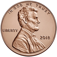 2018 - P Lincoln Shield Cent 50 Roll Bank Box