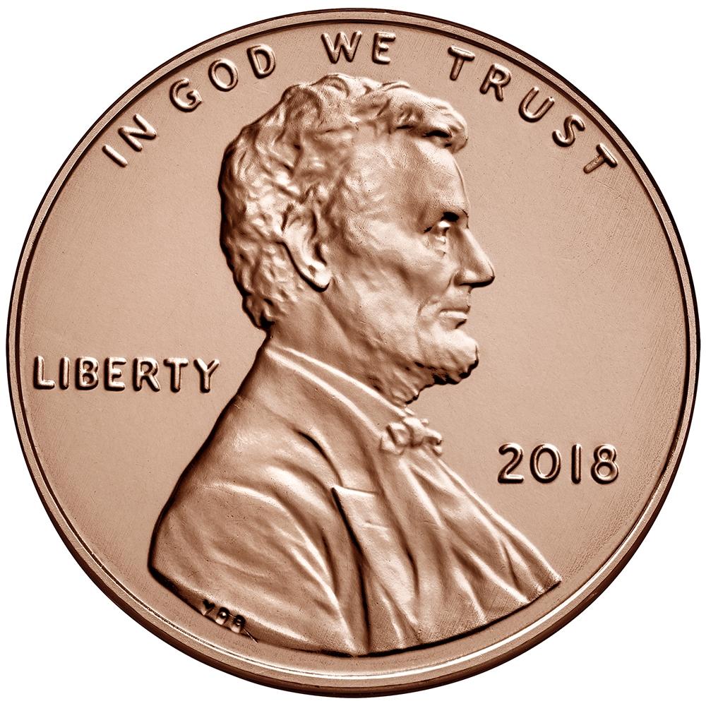 2018 - P Lincoln Shield Cent 50 Roll Bank Box
