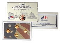 2009 - S Proof Lincoln Cent 4-coin Set - All 4 NEW designs!-OGP