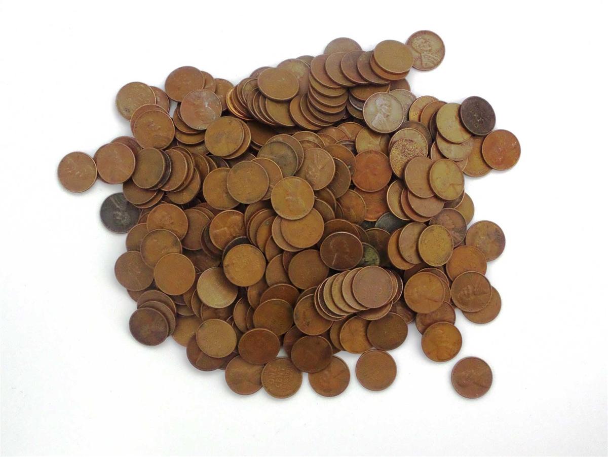 500 wheat penny lot