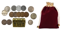 6 Treasure Chests of Coin History - Includes Silver and 100 Year Old Coins