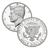 2014 - S Silver Proof Kennedy Half Dollar Single Coin