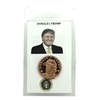 Donald J. Trump Memorabilia Copper Round in Plastic Display Holder