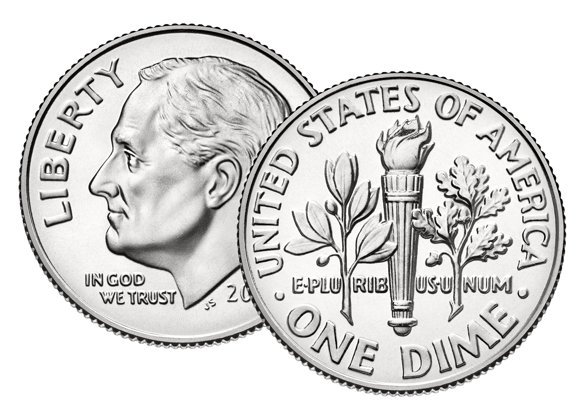 1980-P Uncirculated ROOSEVELT DIME ROLL