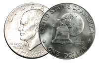 1976 D Type 1 BU Uncirculated Eisenhower Dollar