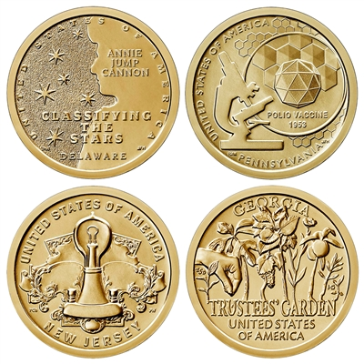 2019 D American Innovation 4 Coin Set $1 Coins - Denver Mint
