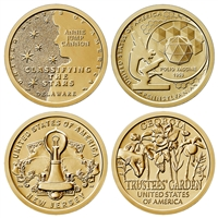 2019 P American Innovation 4 Coin Set $1 Coins - Philadelphia Mint