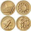 2020 D American Innovation 4 Coin Set $1 Coins - Denver Mint