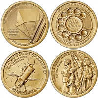 2020 P American Innovation 4 Coin Set $1 Coins - Philadelphia Mint
