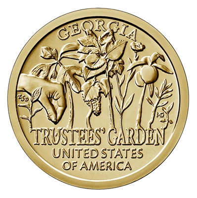 2019 American Innovation Georgia - Trustees' Garden $1 Coin - P and D 2 Coin Set