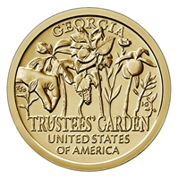 2019 D American Innovation Georgia - Trustees' Garden $1 Coin - Roll of 25 Dollar Coins