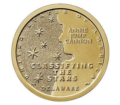 2019 American Innovation Delaware - Annie Jump Cannon $1 Coin - Single Coin