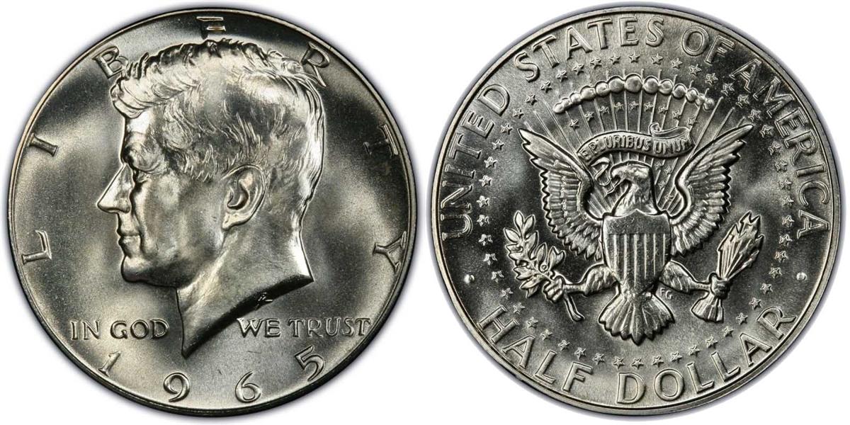 1965 P Silver Kennedy Half Dollar Uncirculated Single Coin