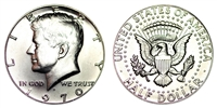 1970 D Silver Kennedy Half Dollar Uncirculated Single Coin