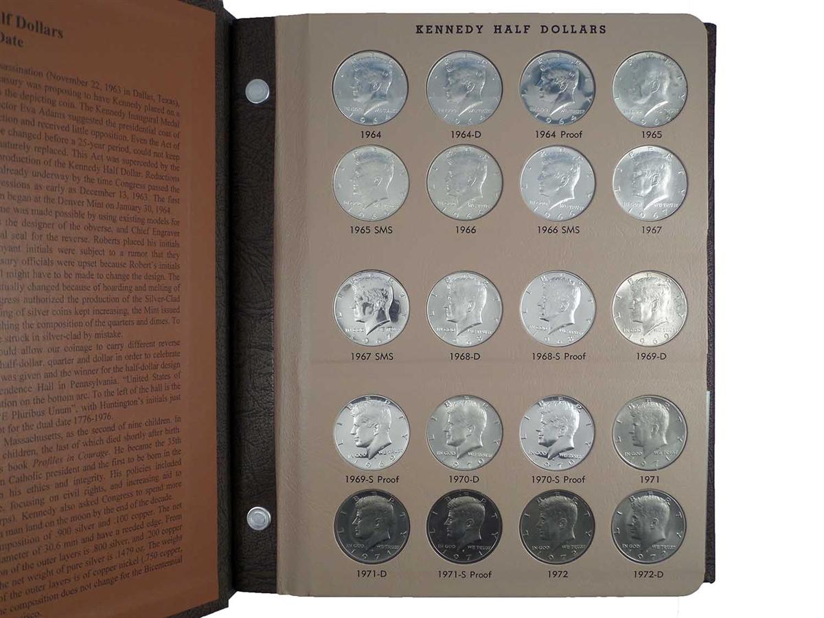 1964-2011 Dansco Coin Album 8166 Kennedy Half Dollar with Proofs