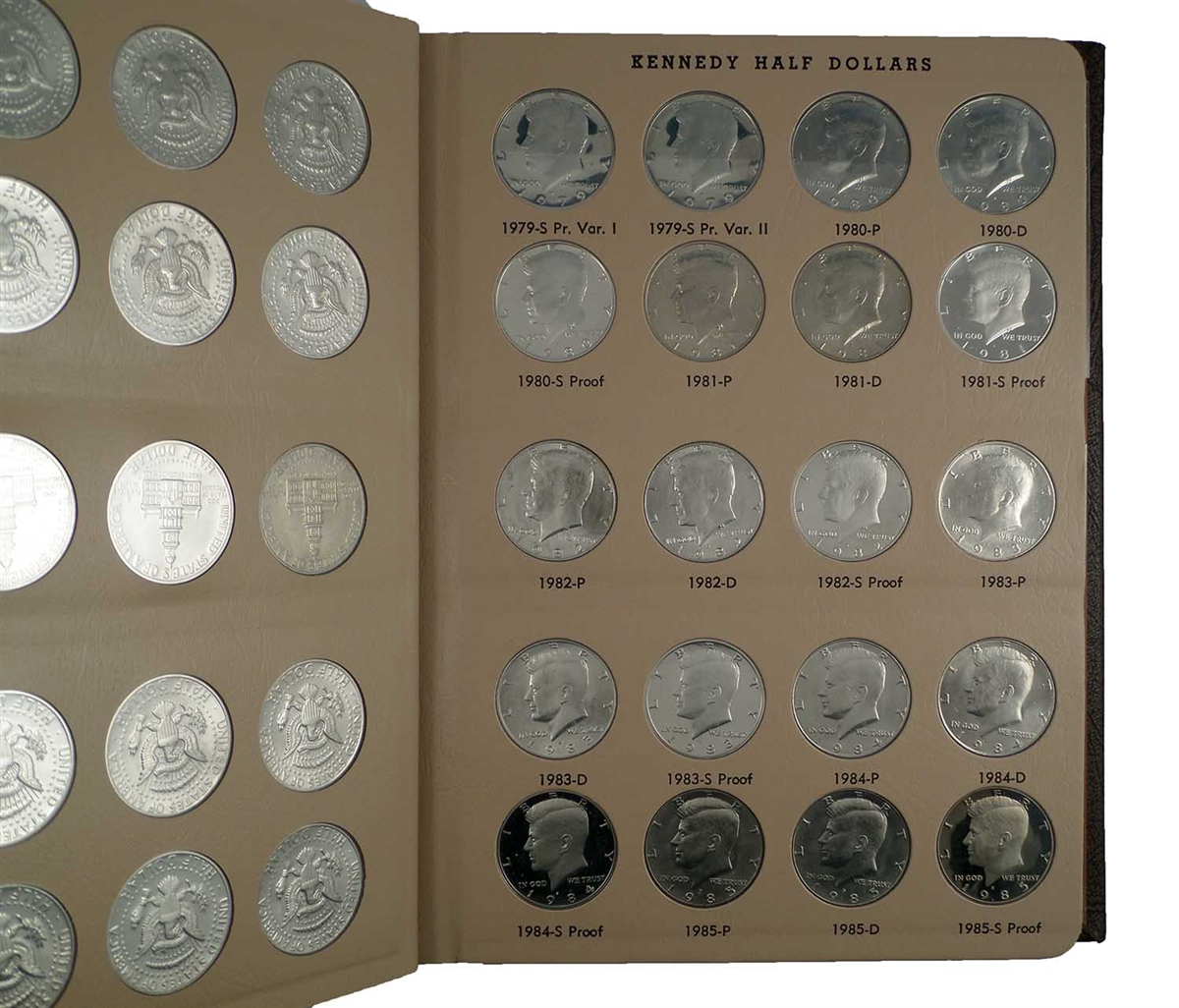 Dansco Coin Album 8166 Kennedy Half Dollars With Proofs 1964 to 2012