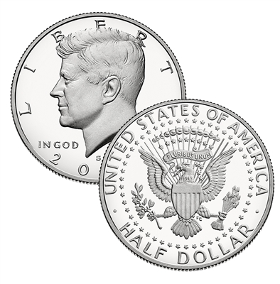 2018 - S Clad Proof Kennedy Half Dollar - Ultra Cameo