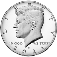 2021 - S Clad Proof Kennedy Half Dollar - Ultra Cameo