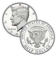2017 - S Silver Proof Kennedy Half Dollar Single Coin