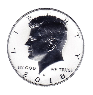 2018 - S Silver Reverse Proof Kennedy Half Dollar Single Coin