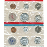 1962 U.S. Mint 10 Coin Set in OGP