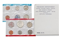 1968 U.S. Mint 10 Coin Set in OGP