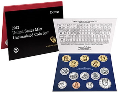 2012 U.S. Mint 28 Coin  Set in OGP with CoA