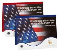 2018 P&D U.S. Mint Uncirculated 20 Coin Mint Set