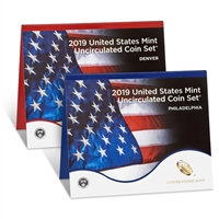 2019 P&D U.S. Mint Uncirculated 20 Coin Mint Set