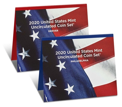 2020 P&D U.S. Mint Uncirculated 20 Coin Mint Set