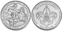 "2010 ""Boy Scouts of America Centennial"" Commemorative Uncirculated Silver Dollar"