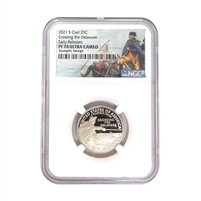 2021 S NGC PF70 Washington Crossing the Delaware and Tuskegee Airman National Park Clad Composition 2 Coin Set