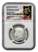 2016 - S NGC PF70 Silver Proof Kennedy Half Dollar Portrait Label