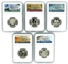 NGC PF70 2020 Early Release National Park Clad Proof Quarter 5 Coin Set