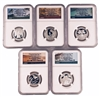 NGC PF70 2020 Early Release National Park Silver Proof Quarter 5 Coin Set