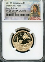 2019 NGC PF70 Sacagawea Dollar Early Release Portrait Label