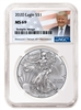 2020 NGC MS 69 Silver Eagle Donald J. Trump Label