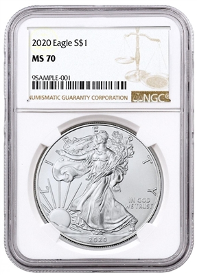 2020 NGC MS 70 Silver Eagle Brown Label