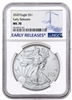 2020 NGC MS 70 Silver Eagle Early Release Blue Label