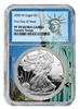 2020 S NGC PF 70 Silver Eagle Statue of Liberty Label 1oz Silver Coin