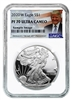 2020 W NGC PF 70 Silver Eagle Donald Trump Label 1oz Silver Coin